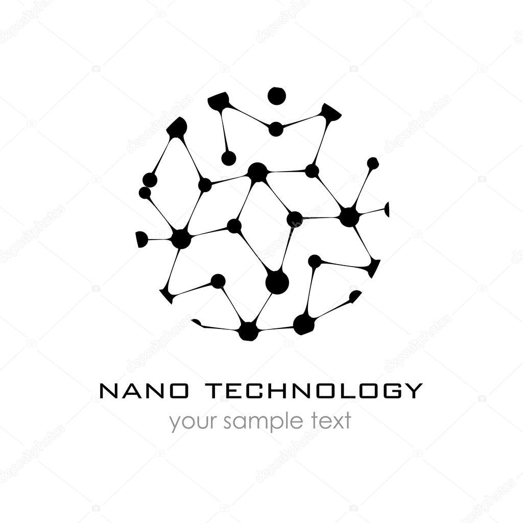Nano logo - nanotechnology. Template design of logo. Vector ...