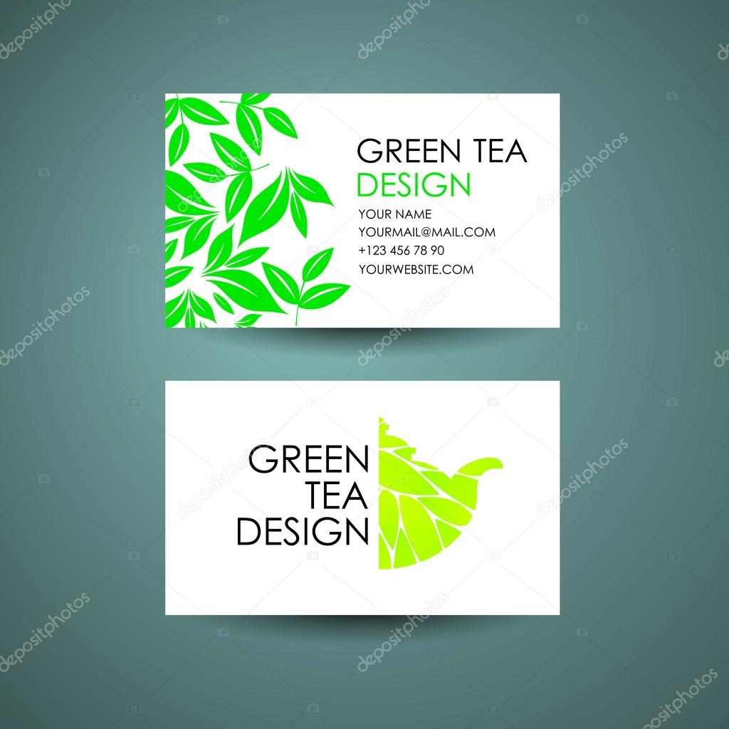 Green tea logo template business card desing concept vector design green tea logo template business card desing concept vector design vetor de stock reheart Images