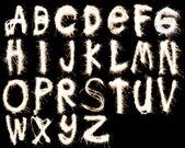 Fotografie fireworks alphabet