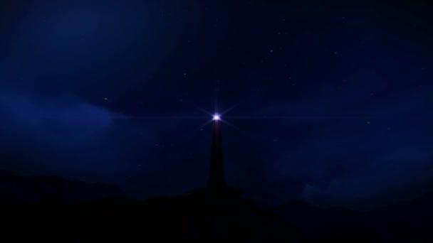 maják v noci