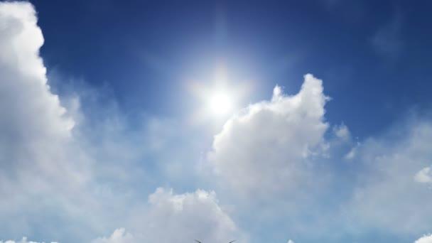 Mythological dragon flying under the sun