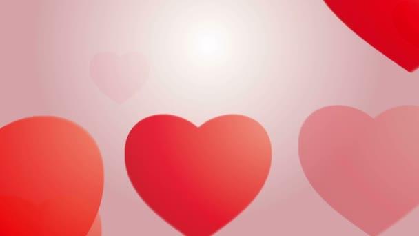 Csökkenő szívek háttér ismétlése