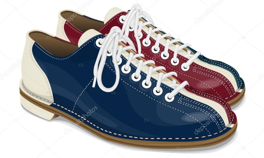 Vector shoes for bowling — Stock