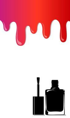 Vector rainbow stains nail polish
