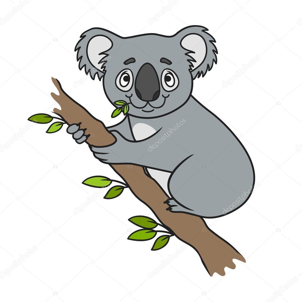 Cartoon koala, vector — Stock Vector © BalakoboZ #116760872
