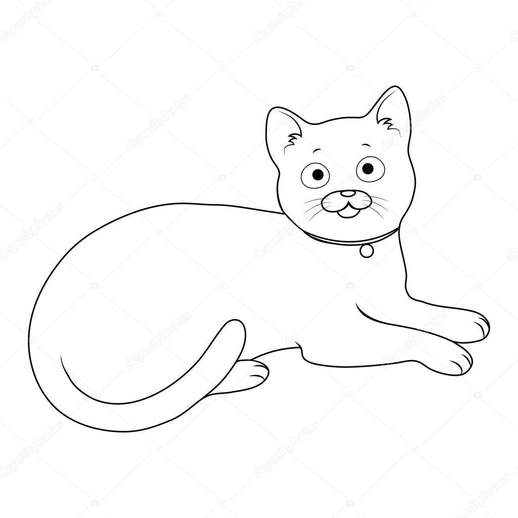 vector de la silueta del gato — Archivo Imágenes Vectoriales ...