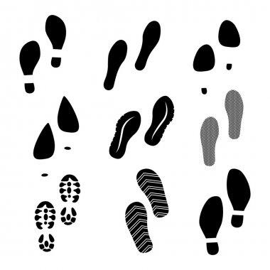 Black shoe print