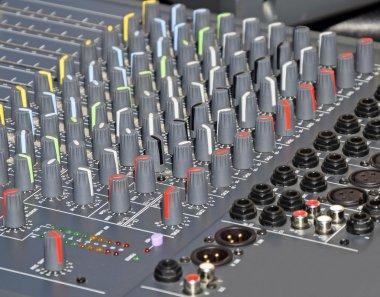 Control panel of the recording studio