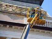 Stavební dělníci v výška