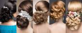 Fotografie Kolekce svatebních účesů. Krásné holky. Krása vlasy