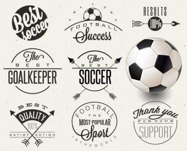 Retro vintage style soccer emblem collection