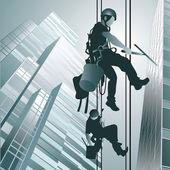 Horolezci čištění windows