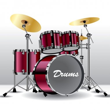 Drums isolated on background. Vector illustration clip art vector