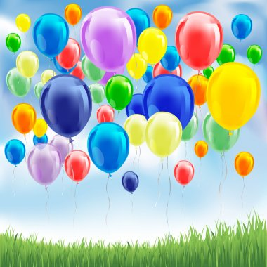 Balloons on the sky