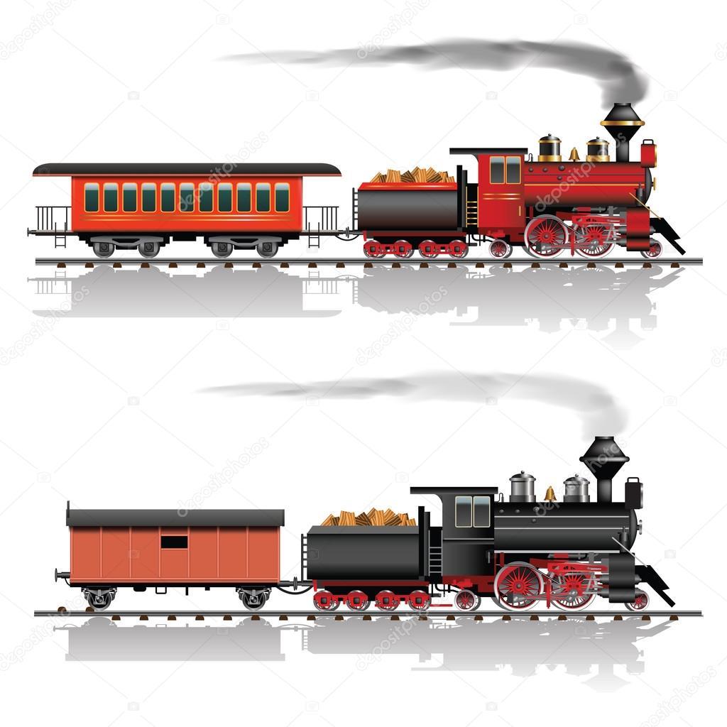 Wild west steam train