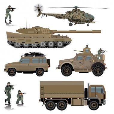 Military transportation vehicles