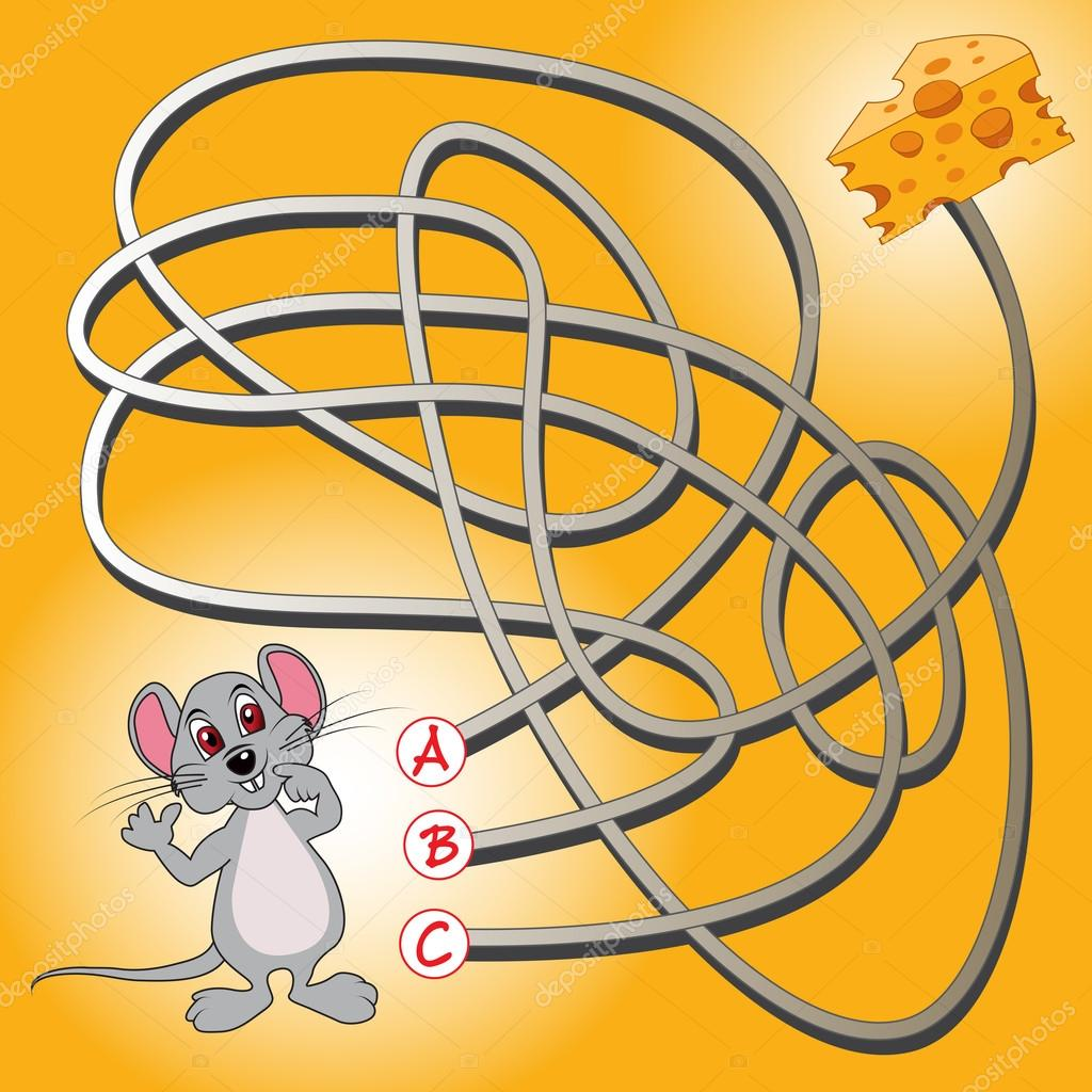 mouse and cheese maze game stock vector route55 87318012