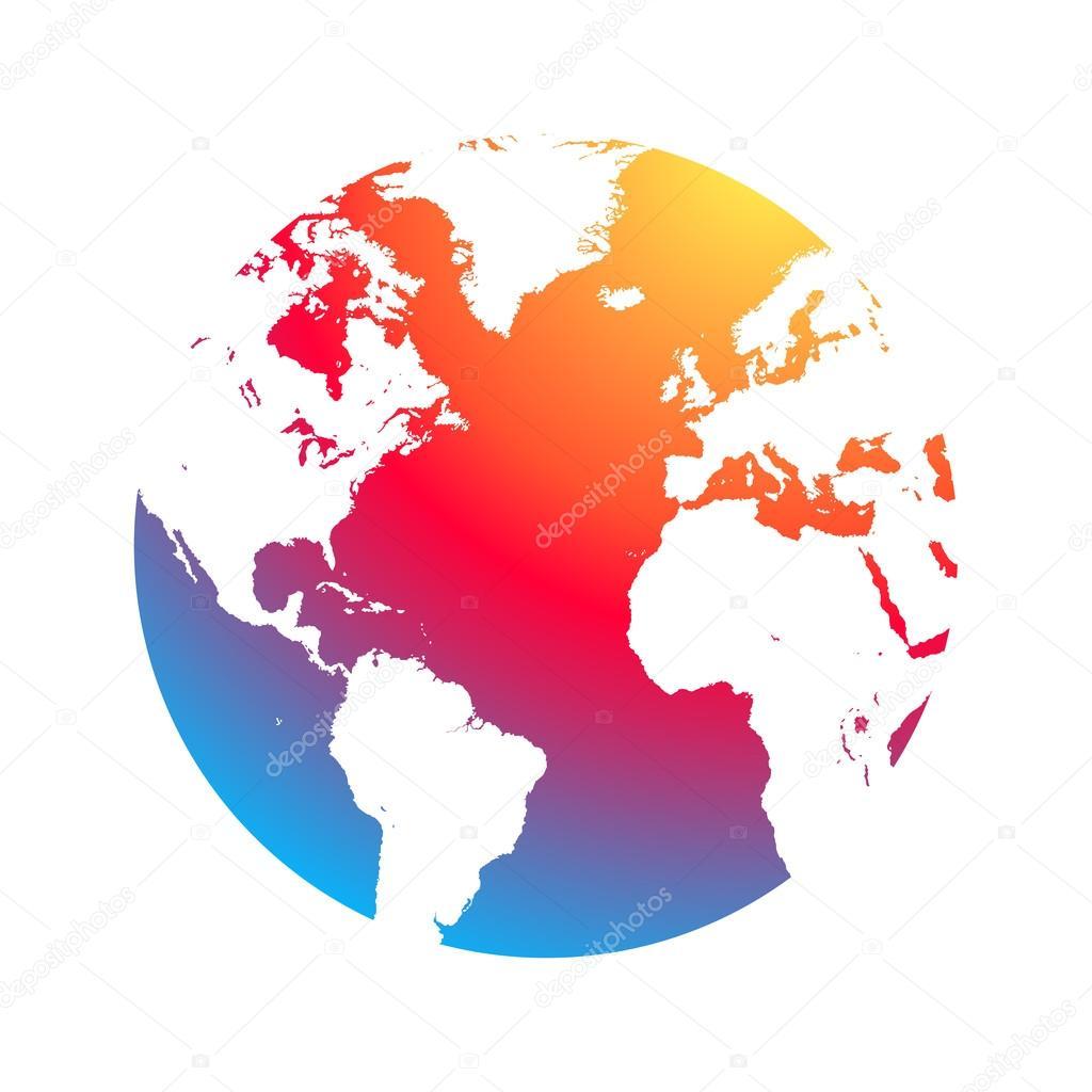 Colorful Earth icon — Stock Vector © vlad210498 #117389018