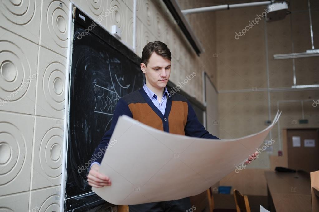 L Etudiant A L Universite Verifie Le Dessin Photographie Avk78