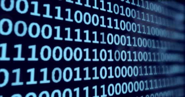 Binární kód - modré