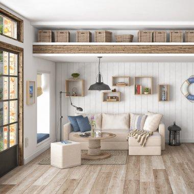 3d render - scandinavian flat
