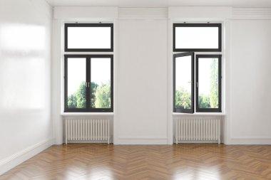 3d - empty room - apartment