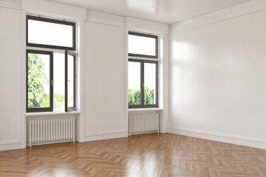 3d - empty room - apartment