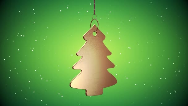 Vid - zlatý vánoční stromeček Tag - zelená