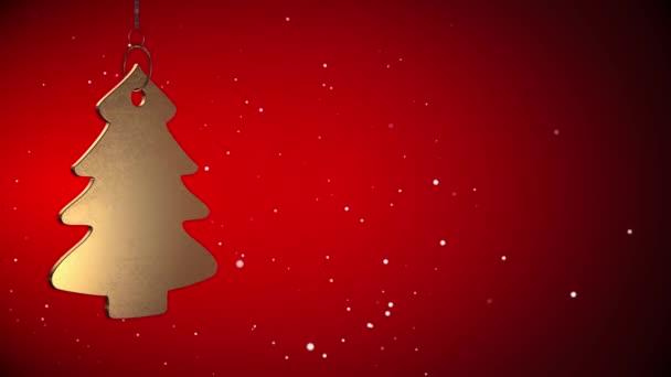 Vid - zlatý vánoční stromeček značku - červená - Copyspace - ray sledovat