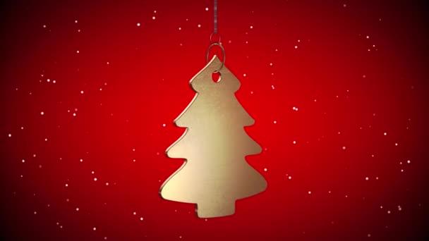 Vid - zlatý vánoční stromeček Tag - červená