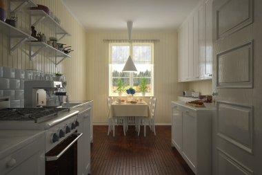 3D - Vintage Kitchen - Shot 1