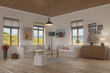 apartment - living room - baltic sea