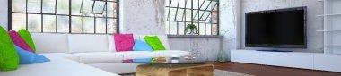 luxurios apartment - living room - panorama