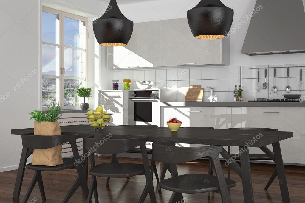 moderne offene Küche - shot 3 — Stockfoto © marog-pixcells #70247967