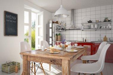 3d - modern kitchen interior - shot 03