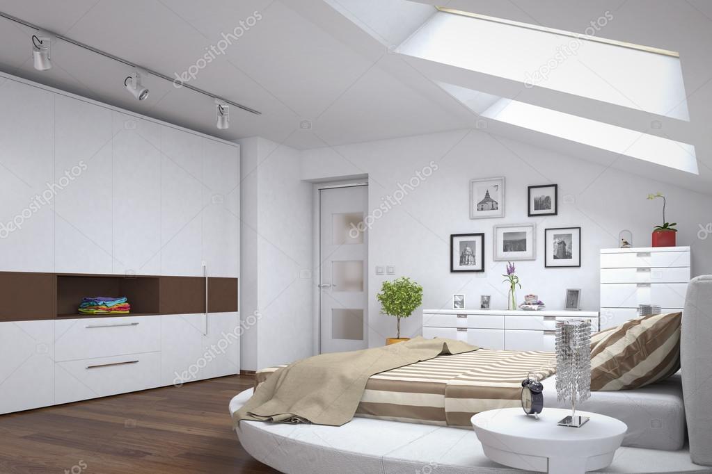 moderne slaapkamer - loft — Stockfoto © marog-pixcells #88691982