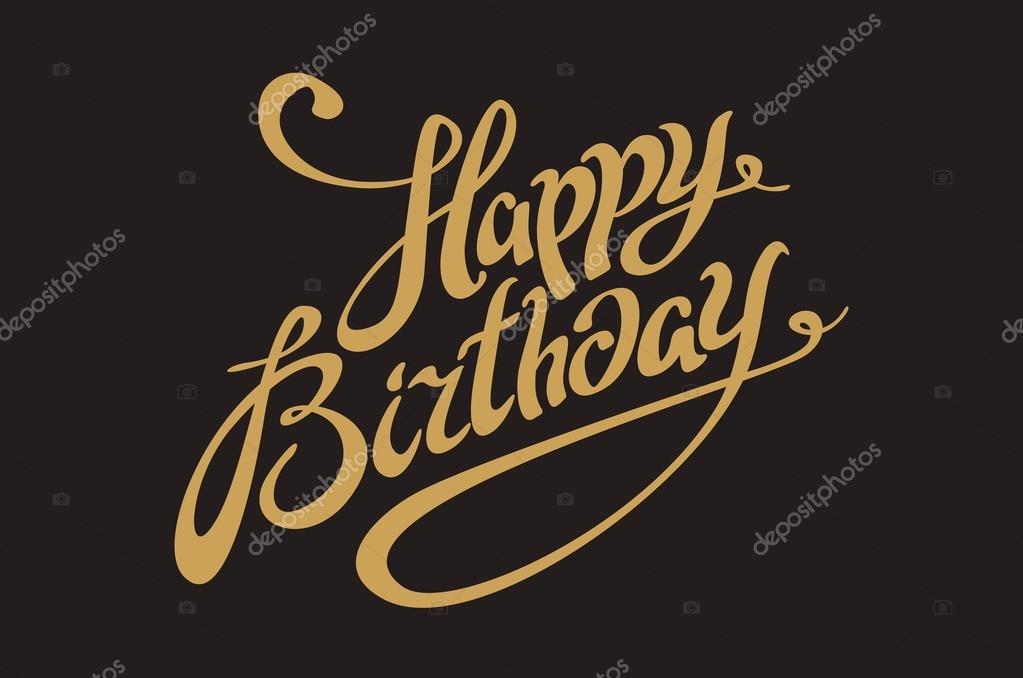 Vector golden text on black background happy birthday to you vector golden text on black background happy birthday to you lettering for invitation and greeting stopboris Image collections
