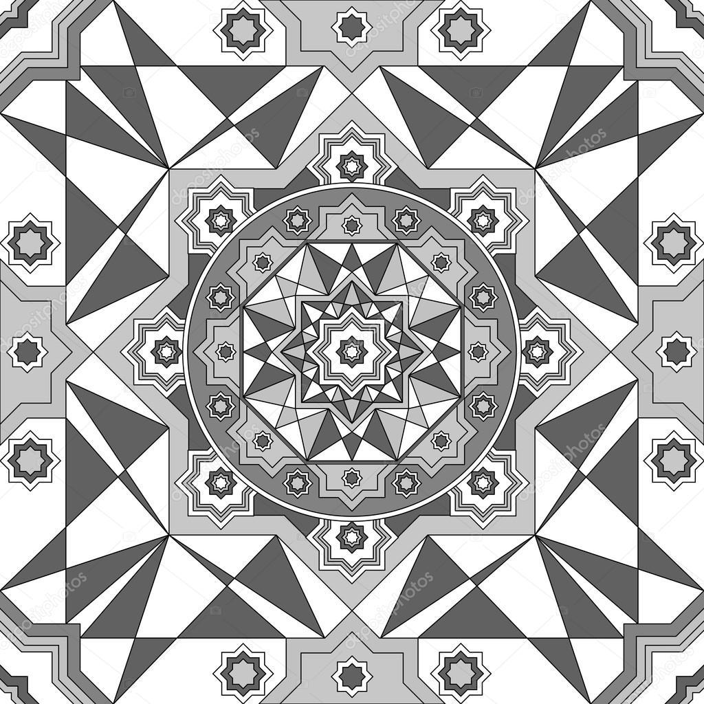 depositphotos stock illustration geometric ornament seamless pattern black