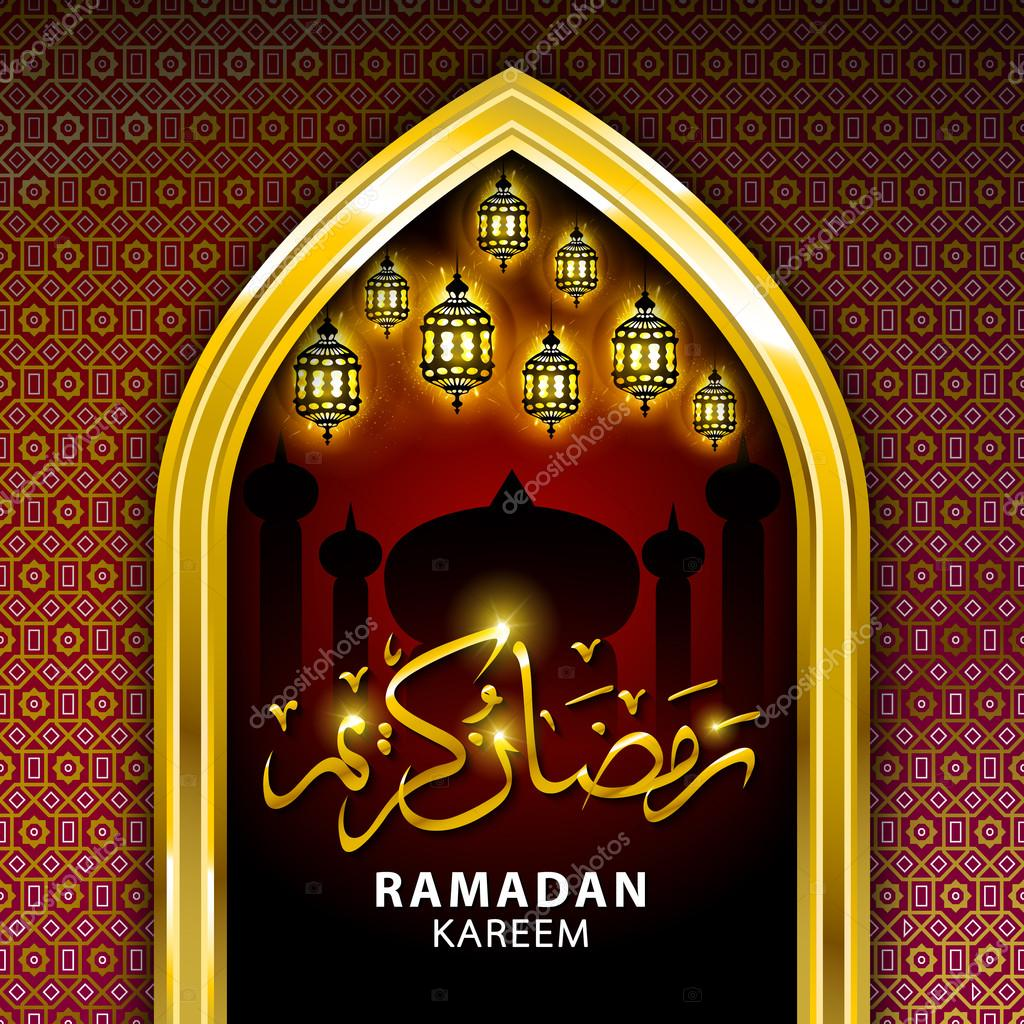 ramadan mubarak greeting card with golden mosque dark red islamic background stock vector c romanchik ruslan gmail com 111932790 https depositphotos com 111932790 stock illustration ramadan mubarak greeting card with html