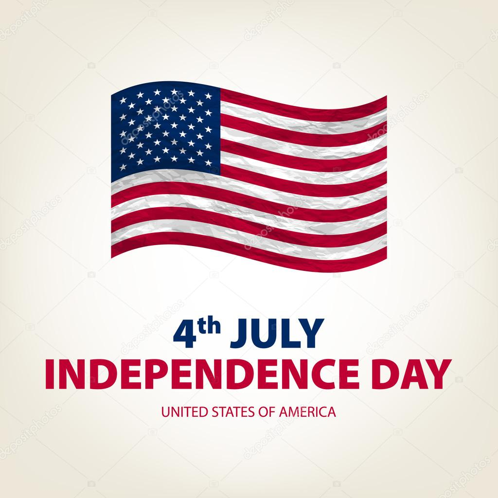 4 th july Independence Day USA united states of america Vector