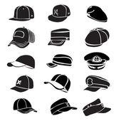 GAP-Satz isoliert auf weißem Hut Symbol Vektor Baseball rap