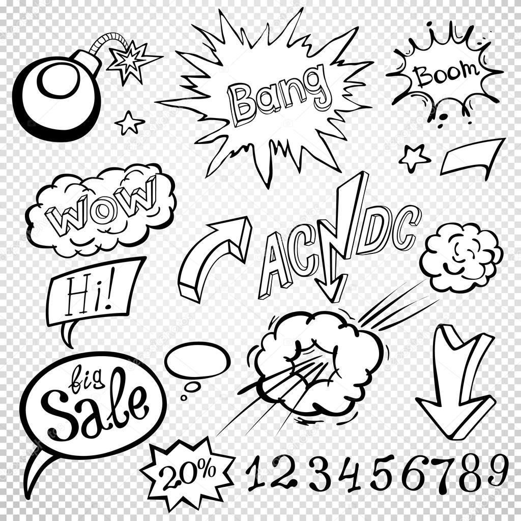 Bomb Explosion comic-Stil-Vorlagen. Vektor-illustration ...