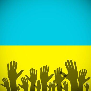 Ukraine Coat art background sign country