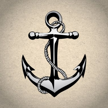 Anchor icon solated, nautical, heavy, iron, symbol