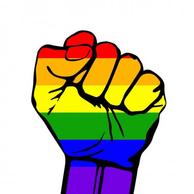 Vector card lgbt support phrase. fight for gay rights