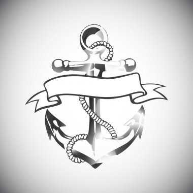 Anchor icon vector, tattoo, logo, grunge, design, floral, hand,