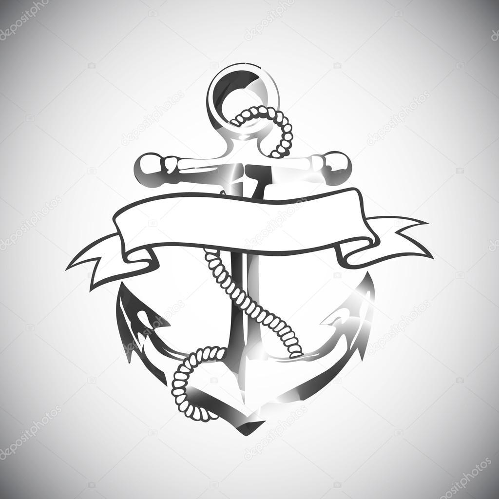 Anclas Tatuajes Diseños Ancla El Icono Vector Tatuaje Logo