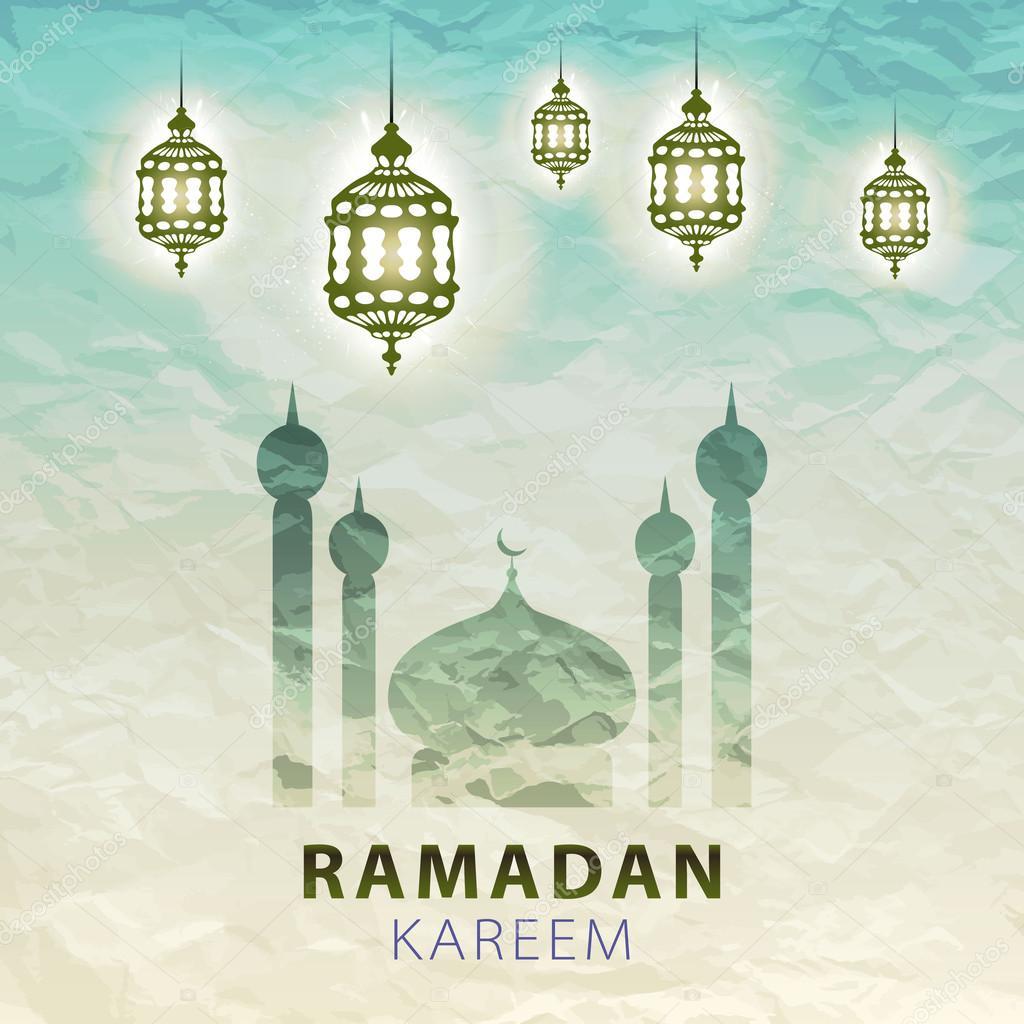 Traditional lantern ramadan kareem art beautiful stok vektr traditional lantern of ramadan ramadan kareem beautiful greeting card with arabic calligraphy which means ramadan kareem romanchikslangmail m4hsunfo