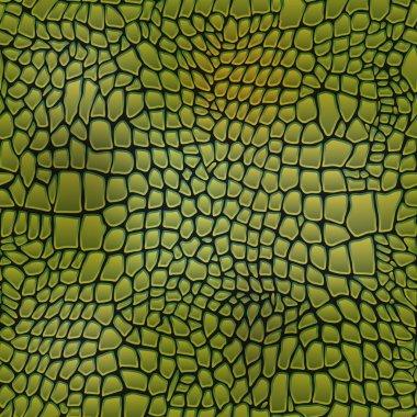 Vector illustration of alligator skin seamless crocodile