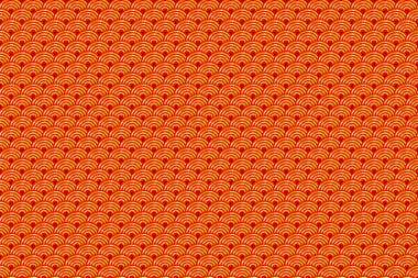Seamless Chinese Pattern of Lucky Symbols of Ruyi And Lu. Meaning Wealth, Auspiciousness And Good Luck.